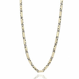 Rectangular Box Chain Necklace in Gold