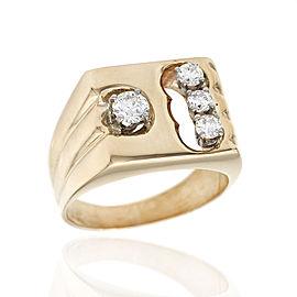Gentlemans Diamond Ring in Gold