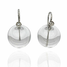 Tiffany Crystal Disc Earrings in Platinum