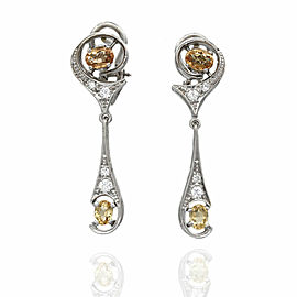Topaz and Diamond Earrings in Gold