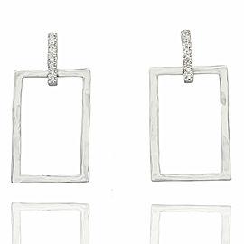 Rectangular Diamond Earrings in Gold