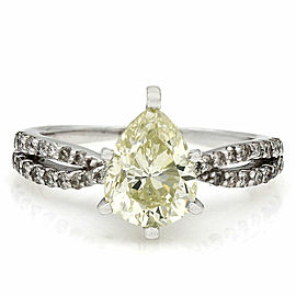 Pear Diamond Engagement Ring in Gold