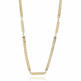 14KY Bar and Box Chain Necklace in Gold