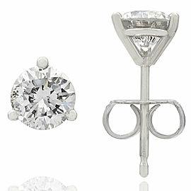 14KW 1.07CTW Diamond Martni Stud Earrings