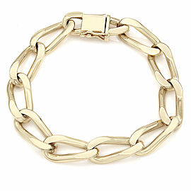 14KY Oval Link Chain Bracelet 7.5 IN