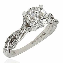 18KW Round Diamond Engagement Ring