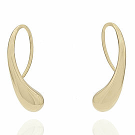 Tiffany & Co. Elsa Peretti Teardrop Earrings 18KY