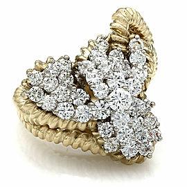 18KY Diamond Cluster Ring