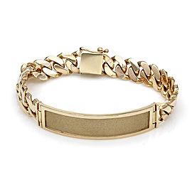 14KY Gentlemans Curb Link I.D. Bracelet