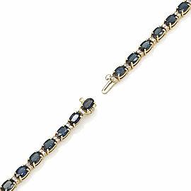 14KY Alternating Sappire and Diamond Bracelet