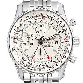 Breitling Navitimer World Silver Dial Steel Mens Watch A24322
