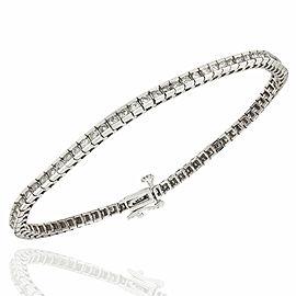 14KW Diamond Square Link Inl;ine Bracelet