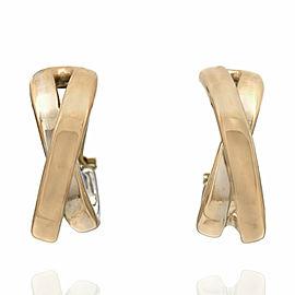 18KY 2 Row Bypass Earrings