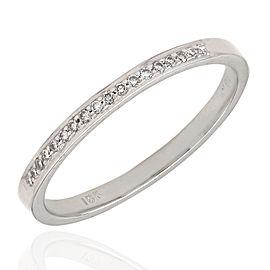 18KW Single Row Diamond Pave Ring