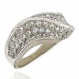 18KW Diamond Pave Wave Ring