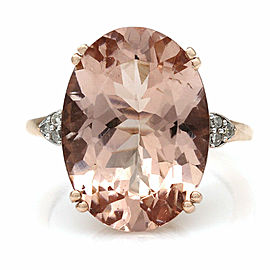 10KR Morganite Ring with Diamond Accents