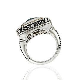 SS/14KY Blue Topaz Ring