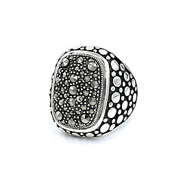 Sterling Silver Marcasite Pave Ring