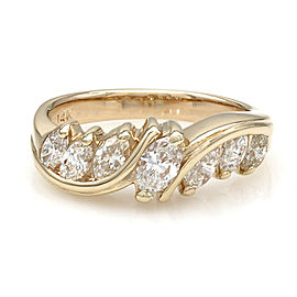 14KY Marquise Diamond 7 Stone Ring