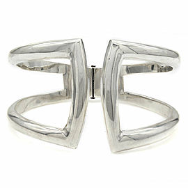 Mexican Modernist Arte En Plata Sterling Silver Wide Bangle Bracelet