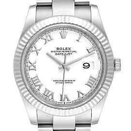 Rolex Datejust 41 Steel White Gold White Dial Mens Watch 126334 Unworn