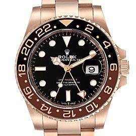 Rolex GMT Master II Everose Gold Black Dial Mens Watch 126715 Unworn