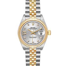 Rolex Datejust 28 Steel Yellow Gold Diamond Ladies Watch 279173