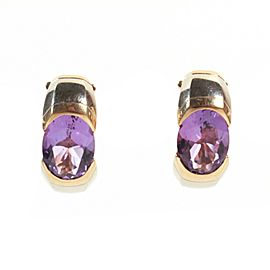 Marina B - Earrings - Amethyst - 18K Yellow Gold - Purple Stones