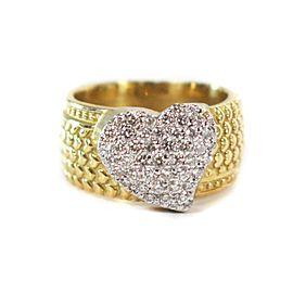 Stambolian - .65 CTW Diamond Ring - 18K Yellow Gold - Heart of Diamonds - US 6.5