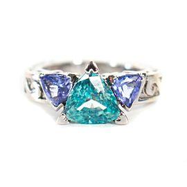 Ring - Dallas Prince - 14K White Gold - Blue Zircon - Tanzanite - Size US 5.5