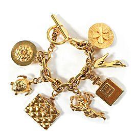 Chanel - Charm Bracelet - Vintage CC Gold Multi - Chain Bag Shoe Bottle Camellia