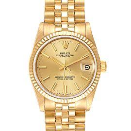 Rolex President Datejust 31mm Midsize Yellow Gold Ladies Watch 68278