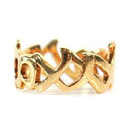 Tiffany - Elsa Peretti - XO Ring - 18K Yellow Gold Paloma Picasso Graffiti - 7.5