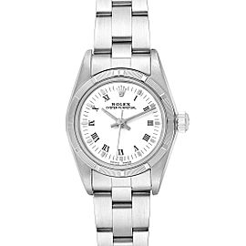 Rolex Oyster Perpetual White Dial Steel Ladies Watch 76030