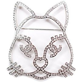Chanel - New - Cat Pin Brooch - 16K Giant Choupette CC Eyelashes 2016