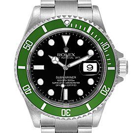 Rolex Submariner Flat 4 Green 50th Anniversary Watch 16610LV
