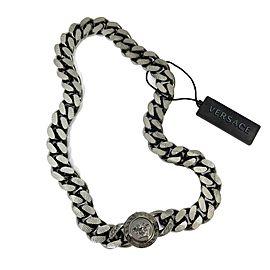 Versace - New - Gunmetal Medusa Chain Necklace - Gunmetal - Necklace