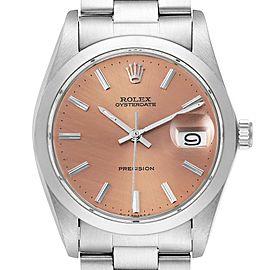 Rolex OysterDate Precision Bronze Dial Steel Vintage Mens Watch 6694