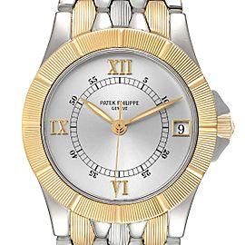 Patek Philippe Neptune Silver Dial Steel 18k Yellow Gold Mens Watch 5080