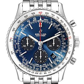 Breitling Navitimer 01 Blue Dial Limited Edition Mens Watch AB0121
