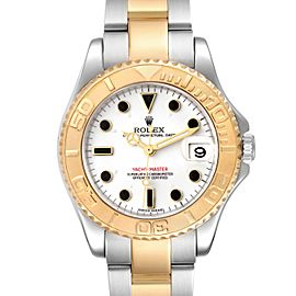 Rolex Yachtmaster 35 Midsize Steel Yellow Gold Unisex Watch 168623
