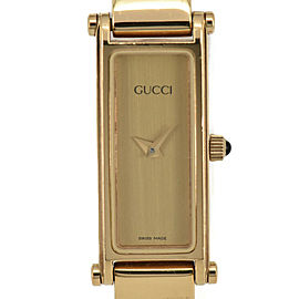Gucci 1500L Gold Dial Gold Plated Quartz Women's Watch