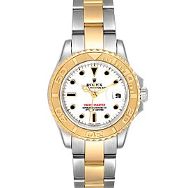 Rolex Yachtmaster 29mm White Dial Steel Yellow Gold Watch 169623