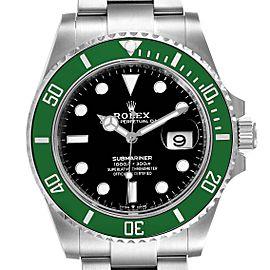 Rolex Submariner Green Kermit Cerachrom Mens Watch 126610LV Unworn