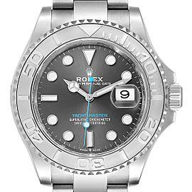 Rolex Yachtmaster Steel Platinum Rhodium Dial Mens Watch 126622 Unworn