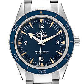 Omega Seamaster 300 Blue Dial Titanium Watch 233.90.41.21.03.001 Box Card