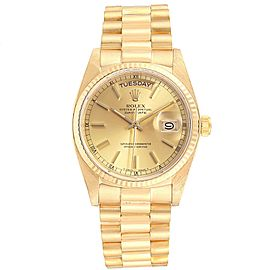 Rolex President Day-Date 36mm Yellow Gold Mens Watch 18038