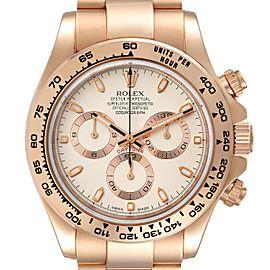 Rolex Cosmograph Daytona Rose Gold Everose Mens Watch 116505