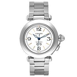 Cartier Pasha C Midsize White Dial Steel Unisex Watch W31044M7