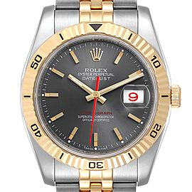 Rolex Turnograph Datejust Steel Yellow Gold Watch 116263